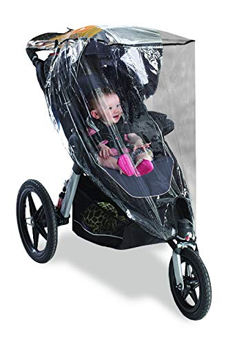 Graco Jogging Stroller Weather Shield, Baby Rain Cover, Universal Size to fit Most Jogging Strollers, Waterproof, Windproof, Ventilation,Protection, Pram,Vinyl, Clear, Plastic
