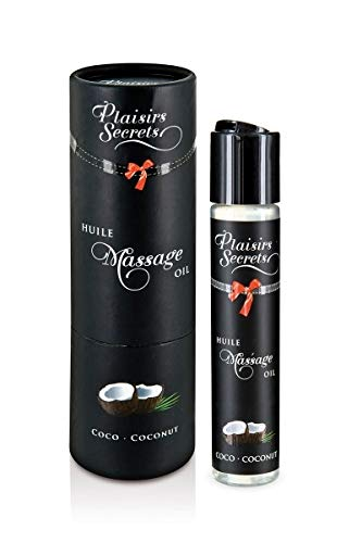 Plaisirs Secrets Huile de Massage Comestible Noix de Coco 59 ml