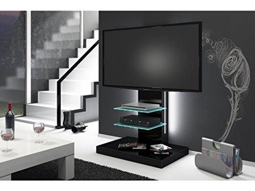 Meuble TV Design LED - Noir Laque