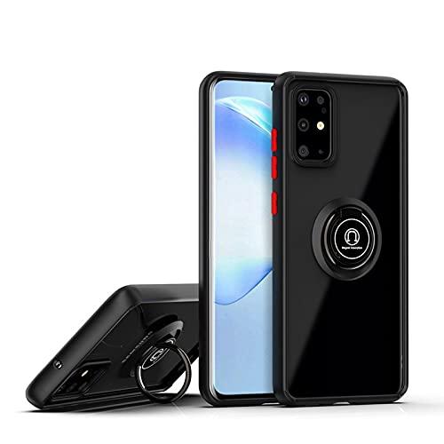HJKKLL Proteja el Ajuste de la cámara para Fit For Samsung A40 A50 A51 A71 S20 Ultra S10 Plus Anillo Soporte magnético Cubierta Completa a Prueba de Golpes de Lujo(Color:Negro,Size:A10 M10)