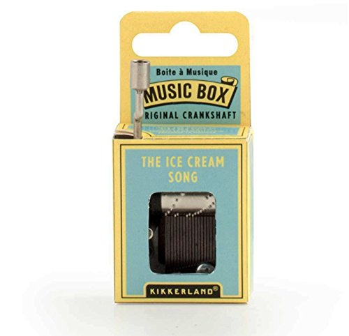 Caja de Musica Metalica Coleccionable Kikkerland Melodia ICE CREAM 1255 7033j