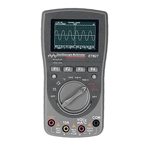 Osciloscopio Multímetro, Osciloscopio Digital, Multímetro De Forma De Onda, Multímetro Et827 2 En 1 Forma De Onda Multímetro Inteligente Gris