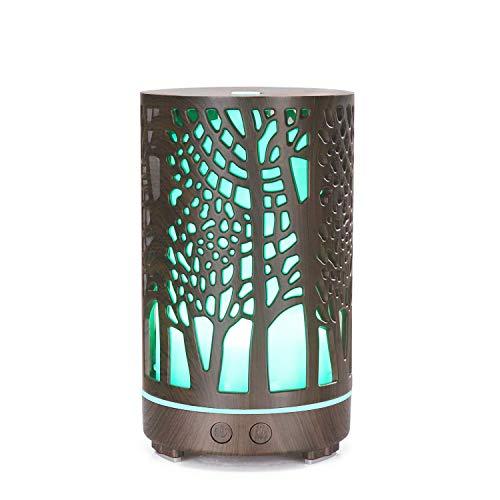 UWY Difusores de aceites Esenciales, humidificador difusor de Niebla aromatizante ultrasónico sin BPA para habitación en casa con luz Ambiental, B