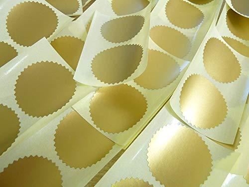 Runde selbstklebende Etiketten, 42 mm Durchmesser, matt, Goldfarben