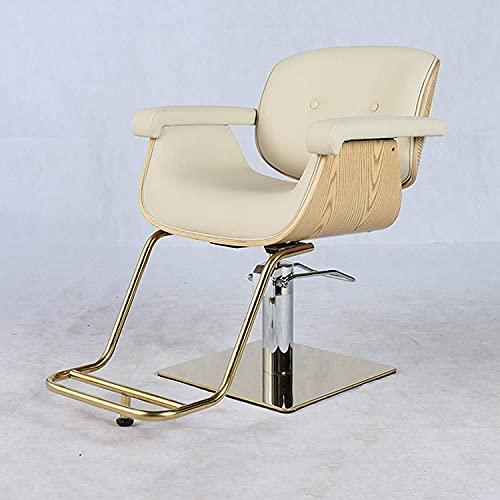 Friseurstuhl, 360 ° Rotation einstellbar Friseur Friseur Friseurstuhl Mode Hair Cutting Chair, Geeignet für Hotels, Friseursalons, Barber-Shops, Freizeitplätze
