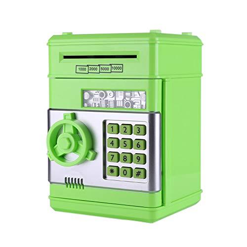 InnerSetting Spardose Kinder,Tresor kinder Spardose Tresor Spardosen Elektronische Automatische Münze (grün)