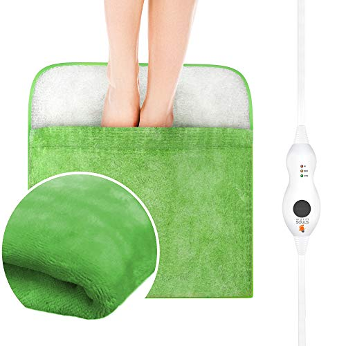 Warming Pad, Electric Heated Foot Warmer Ultra Soft Flannel Heat Therapy for Cold Feet, Poor...