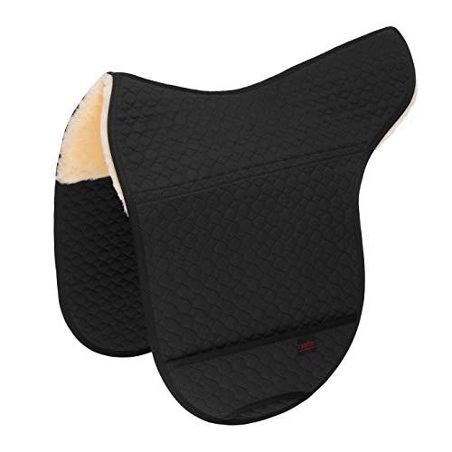 CHRIST Lammfell Satteldecke für Fellsattel Basic Plus und Premium Plus anatomische Sattelunterlage aus echtem medizinischem Fell, erhältlich in schwarz, Größe: Pony