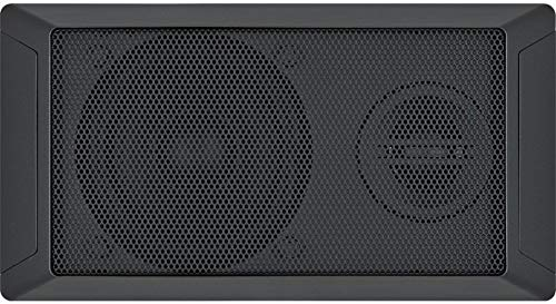 "Jensen JWMS350 Two-Way Acoustical Panel Mount 4"" Speaker Fits with JWM60A and JWM70A App Ready Wallmount Stereos, One Piece Snap Style Metal Grille, Surface Mount Installation"