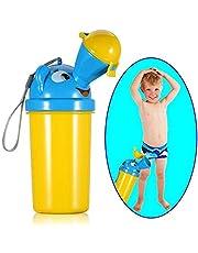 [Actualización] BYETOO Orinal portátil para bebé y niño, reutilizable, taza de entrenamiento de orinal, inodoro de emergencia, para acampar, coche, viajes, para niños - amarillo