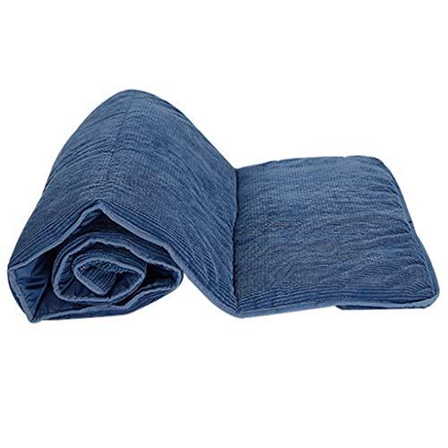 LLLD Cojín de repuesto para tumbona de doble cara, para jardín, patio, reclinable, transpirable, para el almuerzo, para viajes, vacaciones, interior/exterior (color: azul 190 x 71 x 1 cm, tamaño: A)