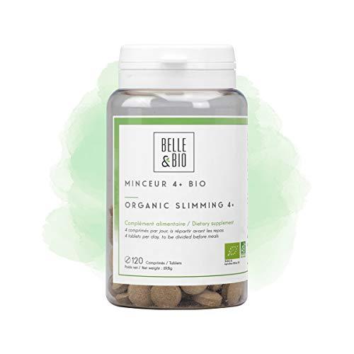 Belle&Bio Minceur 4+ - 120 comprimés - Brûleur - Capteur - Certifié Bio par Ecocert - Thé vert, Guarana, Artichaut et Laminaire - Fabriqué en France