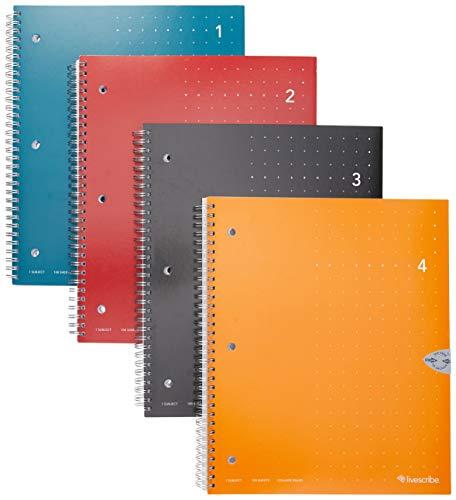 Livescribe Notizbuch, 21,6 x 28,9 cm, Nr. 1-4, 4 Stück