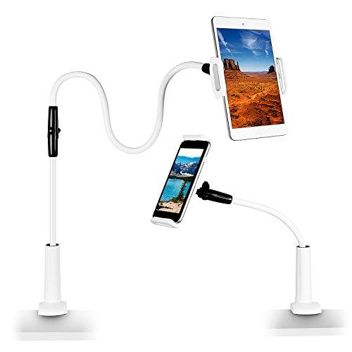 Support Téléphone Portable , Myguru Support Tablette Lit Bras Réglable 110cm Rotation 360° Ajustables pour 4 -10.5 Pouces pour iPhone Android Samsung Smartphones iPad