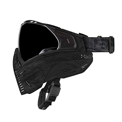 Push Unite Paintball Goggles MASK with Quad PANE Lens and CASE (Blackout)