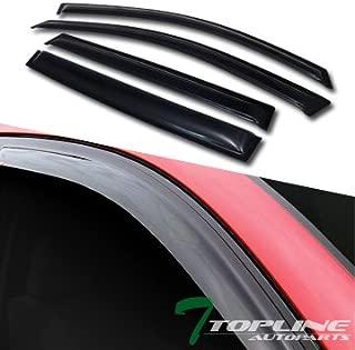 Topline Autopart Smoke Window Visors Deflector Vent Shade Guard 4 Pieces For 07-13 Acura MDX