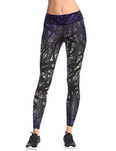 JIMMY DESIGN Damen Leggins Printed Hose Lange - Star Kunst Printed/019-36 (Herstellegröße M)