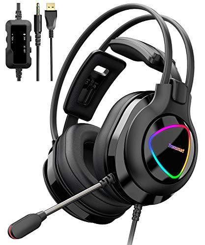 classement un comparer Casque de jeu Tronsmart Alpha avec microphone pour PC PS4, Xbox One, casque de jeu avec contrôle du son…