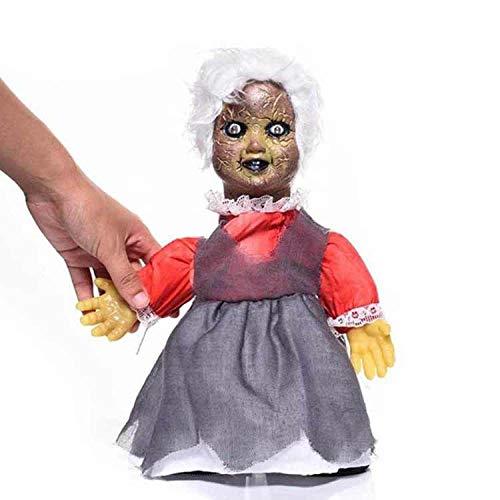 Muñeca de juguete de Halloween Decoraciones lindas Decoraciones de fantasmas para caminar brillantes Color de imagen Z113