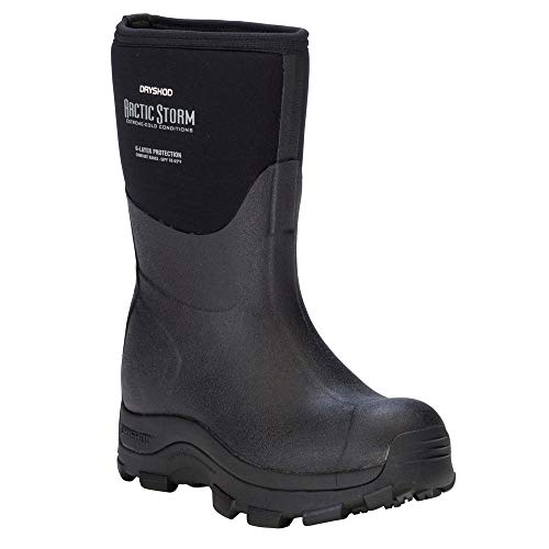 DRYSHOD Womens Arctic Storm Extreme-Cold Conditions Winter Mid Boot,Black/Grey, 10