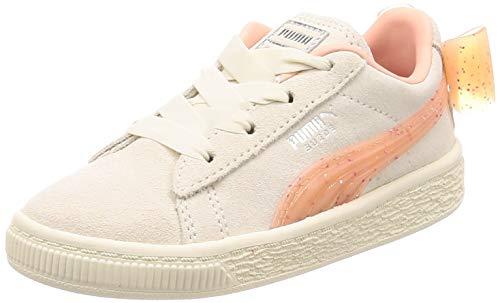 Puma Baby Mädchen Suede Bow Jelly AC INF Sneaker, Beige (Whisper White-Peach Bud Silver 1), 26 EU