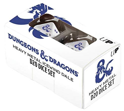 Ultra Pro - Dungeons & Dragons - Icewind Dale Heavy Metal D20 Würfel-Set, E-18354