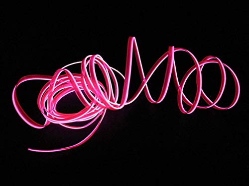 Neon Light EL Wire mit USB Neon Glowing Strobing Electroluminescent Wire für Partys Halloween Weihnachten Weihnachtsfest Dekoration 2M / 6FT(Rosa