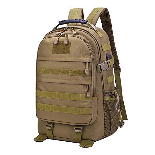 Neuleben Militär Taktischer Rucksack Wanderrucksack mit USB Ladeport Daypack Groß Wasserdicht Herren Damen 40 Liter für Outdoor Wandern Alltag Reise (Braun)