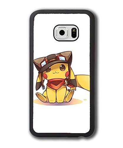 Customized Design Samsung Galaxy S6 Edge Hülle Case Cover,Pokemon Pikachu Games Themes Plastik Hardcase Muster Anti-stoß Handyhülle für Galaxy S6 Edge