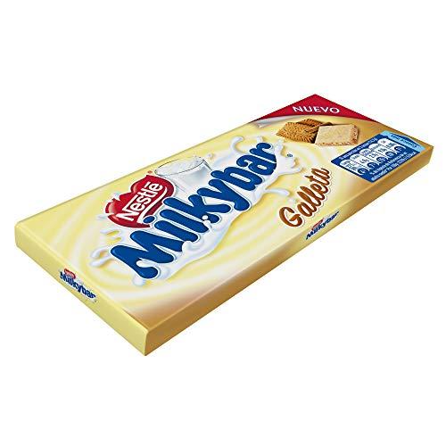 Nestlé Milkybar Chocolate Blanco con galleta - Tableta de chocolate blanco 20x100g