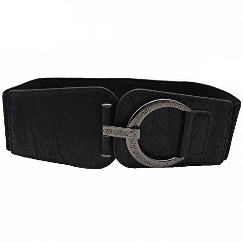 Women Belts Wide Stretch High Waist Cinch Wrap Elastic Band Decorative Belt