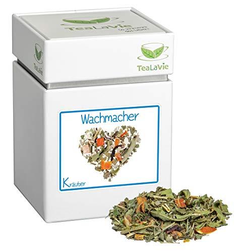 TEALAVIE - Kräutertee lose   Wachmacher - frischer Zitrusgeschmack   60g Dose loser Kräuter Tee
