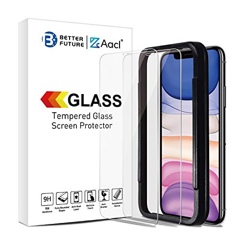 of ulak glass screen protectors Screen Protector Glass for iPhone 11/XR,6.1 Inch,2 Pack,Tempered Glass Film,Not for Full Coverage,Ultra Clear