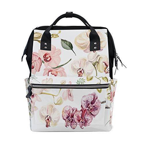 Orchidee Zweig Frühling Blume Große Kapazität Windel Taschen Mummy Rucksack Multi Funktionen Wickeltasche Tasche Handtasche Für Kinder Babypflege Reise Täglichen Frauen