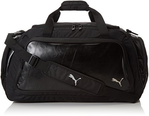 PUMA, Borsa Sportiva Elite Medium, Nero (Black-Cool Gray Silver)