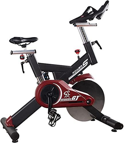 NBLD Bicicleta giratoria Bicicleta de Ejercicio para Interiores, Gimnasio en casa, Ejercicio aeróbico, Bicicleta giratoria, Bicicleta estática con Volante de Acero de 18 kg / 40 LB