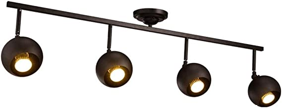MX Track Light - Internet Cafe/Restaurant/Coffee/Clean Bar Decorative Spotlights, Long Rod Large Lamp - 100cm - 4 Heads Tr...