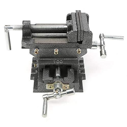Prensa de taladro, doble dirección, 4 pulgadas, soporte de tornillo de banco...