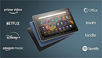 Das neue Fire HD 10-Tablet   25,6 cm (10,1 Zoll) großes Full-HD-Display (1080p), 32 GB, schwarz – mit Werbung