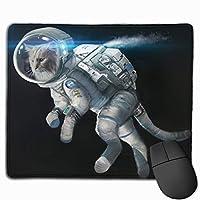 宇宙服の猫 マウスパッド ノンスリップ 防水 高級感 習慣 パターン印刷 ゲーミング ホビー 事務 おしゃれ 学習