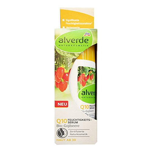 alverde NATURKOSMETIK Feuchtigkeits Serum Q10 Gojibeere für Haut ab 30 (30ml Flasche)