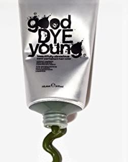 Good Dye Young Semi-Permanent Vegan & Cruelty Free Cream Hair Dye Color [KOWABUNGA GREEN 4oz]