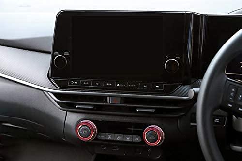 TISpeed 日産 新型ノート(NOTE) e-POWER E13系(2020年12月~)専用アルミ合金エアコン ダイヤルカバー 内装カスタムパーツ 空調ノブボタンカバーアクセサリーキズ防止防塵 取り付け簡単 車種専用設計2 pcsセット(赤)