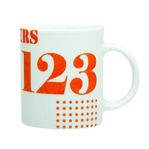 Novastyl 7150004 Set di 6 Tazze in Porcellana di Colore Multi-Numeri, 35 cl