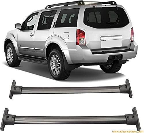 2 Piezas Coche Bacas y portaequipajes para Nissan Pathfinder 2005-2012, Techo Aluminio Barras Transversales Portaequipajes De Bicicleta
