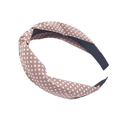 MAWOLY Damen Band Haarband Blumen Sport Haargummi Tuch Stirnband Drucken Verknotet Weich Oben Knoten Turban Mode Einfach