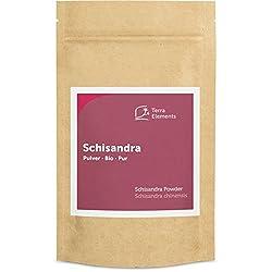 """Schisandra en poudre (Schisandra chinensis), 100% pure, d'origine biologique Le nom chinois de schisandra """"Wu Wei Zi"""" veut dire « fruit aux cinq saveurs » La poudre de schisandra peut être utilisé dans du thé, des smoothies, du jus ou de l'eau Qualit..."""