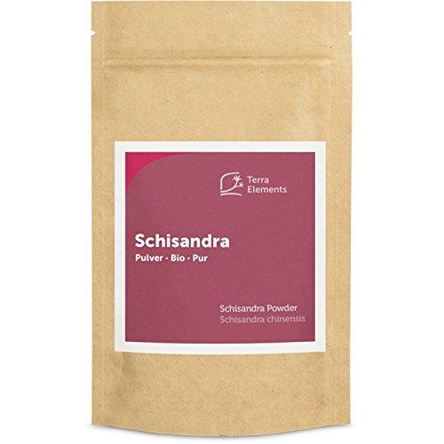 Terra Elements Bio Schisandra Pulver 100 g I Fünf-Geschmacks-Frucht I Geeignet für Tee I 100% rein I Vegan I Rohkost