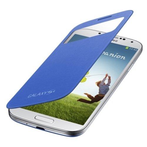 【SAMSUNG純正】GALAXY S4 S View Cover ブルー/ワンセグアンテナ対応 / docomoギャラクシーS4フリップカバー / ブルー(全6色)