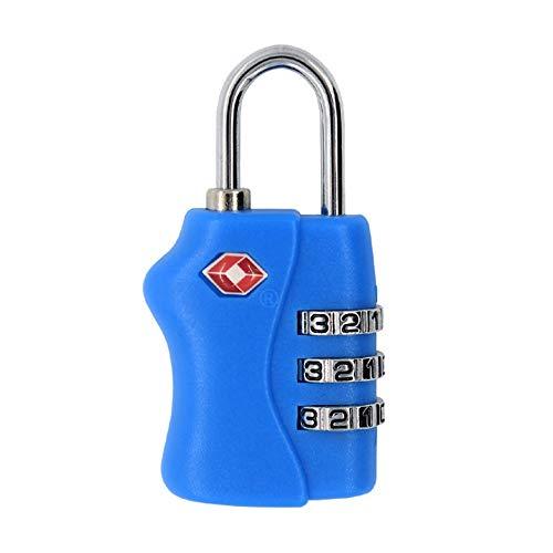 Yaunli Luggage lock Padlock Travel Combination TSA Luggage Locks Password Code Number Security Padlock Luggage lock safety padlock (Color : Blue)